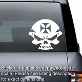Skull and Iron Cross Motorcycle Bike Helmet Decal