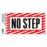 No Step - Airplane Wing Warning Sign MAG-NEATO