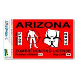 Arizona AZ Zombie Hunting License Permit Red United States - Biohazard Response Team MAG-NEATO
