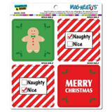 Merry Christmas Fun Naughty Nice Gingerbread Man MAG-NEATO