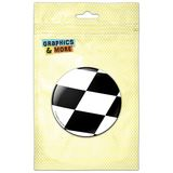 Checkered Flag Racing Pinback Button Pin Badge