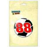 Number 88 Checkered Flag Racing Pinback Button Pin Badge
