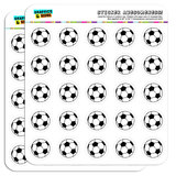"Cartoon Soccer Ball Football 1"" Scrapbooking Crafting Stickers"