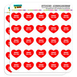 """I Love Heart - Dogs - Border Collies - 1"""" Scrapbooking Crafting Stickers"""