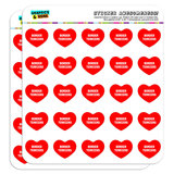 """I Love Heart - Dogs - Border Terriers - 1"""" Scrapbooking Crafting Stickers"""