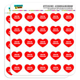 """I Love Heart - Dogs - Boston Terriers - 1"""" Scrapbooking Crafting Stickers"""