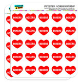 """I Love Heart - Dogs - Boxers - 1"""" Scrapbooking Crafting Stickers"""