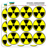 "Radioactive Nuclear Warning Symbol 2"" Scrapbooking Crafting Stickers"