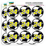 "Number 24 Checkered Flag Racing 2"" Scrapbooking Crafting Stickers"