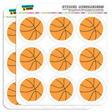 "Cartoon Basketball 2"" Scrapbooking Crafting Stickers"