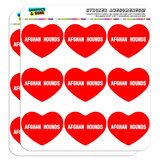 "I Love Heart - Dogs - Afghan Hounds - 2"" Scrapbooking Crafting Stickers"