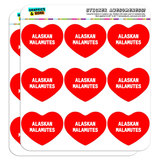 "I Love Heart - Dogs - Alaskan Malamutes - 2"" Scrapbooking Crafting Stickers"