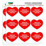 "I Love Heart - Dogs - American Staffordshire Terriers - 2"" Scrapbooking Crafting Stickers"