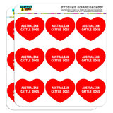 "I Love Heart - Dogs - Australian Cattle Dogs - 2"" Scrapbooking Crafting Stickers"