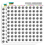 "Paw Print Pet Dog Cat 1/2"" (0.5"") Scrapbooking Crafting Stickers"