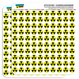 "Radioactive Nuclear Warning Symbol 1/2"" (0.5"") Scrapbooking Crafting Stickers"