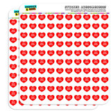 "I Love Heart - Dogs - American English Coonhounds - 1/2"" (0.5"") Scrapbooking Crafting Stickers"