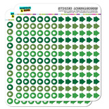 Arrow Dots Planner Calendar Scrapbooking Crafting Stickers - Green
