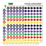 Arrow Dots Planner Calendar Scrapbooking Crafting Stickers - Multi Color