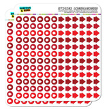Arrow Dots Planner Calendar Scrapbooking Crafting Stickers - Red