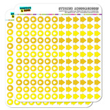Arrow Dots Planner Calendar Scrapbooking Crafting Stickers - Yellow
