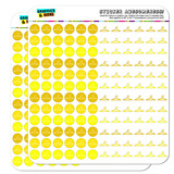 Clothes Hanger Laundry Dry Clean Dots Planner Scrapbooking Crafting Stickers - Yellow - Opaque