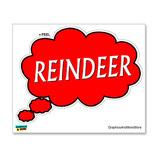 Thinking of Reindeer Sticker