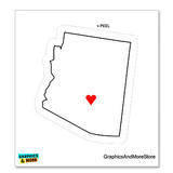 Arizona Love - Heart - State Pride Sticker