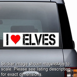 I Love Elves Sticker