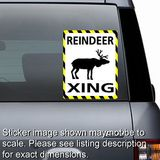 Reindeer Crossing Sticker
