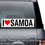 I Love Samoa Sticker