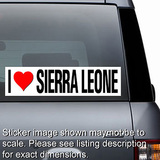 I Love Sierra Leone Sticker