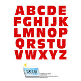 Alphabet Letters Uppercase Chevrons Red Zig Zag SLAP-STICKZ(TM) Laminated Wall Stickers