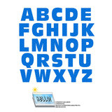 Alphabet Letters Uppercase Chevrons Blue Zig Zag SLAP-STICKZ(TM) Laminated Wall Stickers