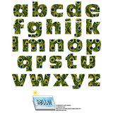 Alphabet Letters Lowercase Peacock Print Animals SLAP-STICKZ(TM) Laminated Wall Stickers