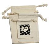 Joy Heart Black Polka Dots - Wedding Bridal Shower Valentines Love Gift Bag