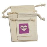 Enjoy Heart Purple Polka Dots - Wedding Bridal Baby Birthday Shower Valentines Love Gift Bag