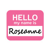 Roseanne Hello My Name Is Mouse Pad
