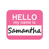 Samantha Hello My Name Is Mouse Pad