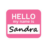 Sandra Hello My Name Is Mouse Pad
