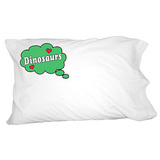 Dreaming of Dinosaurs - Blue Pillowcase
