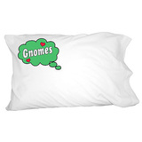 Dreaming of Gnomes - Green Pillowcase
