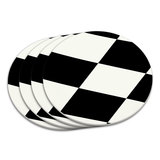 Checkered Flag Racing Coaster Set