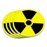 Radioactive Nuclear Warning Symbol Coaster Set