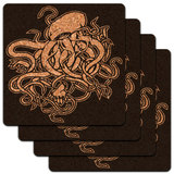 Cthulhu Low Profile Cork Coaster Set