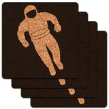 Astronaut Space Suit Low Profile Cork Coaster Set