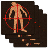 Zombie Outbreak Response Team Zombie Hunter Low Profile Cork Coaster Set