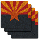 Arizona State Flag Low Profile Cork Coaster Set