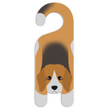 Beagle Dog Do Not Disturb Plastic Door Knob Hanger Sign - Blank