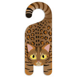 Bengal Cat Do Not Disturb Plastic Door Knob Hanger Sign - Blank
